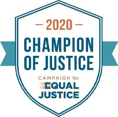 2020 Champion of Justice badge