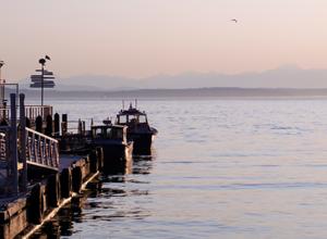 A pier with an ocean