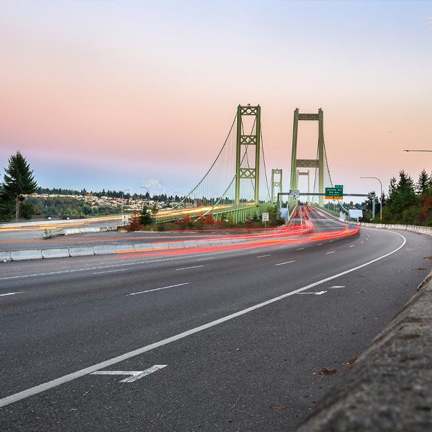 Bridge entering Seattle