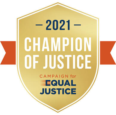 2021 Champion of Justice badge